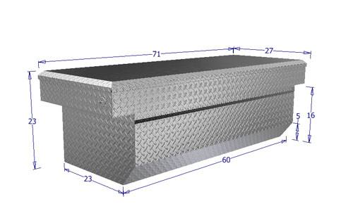 Brute - BRUTE Single Lid Full Size Pickups w/ 6.5 ft or 8 ft Bed (Wide & Deep) w/ slant - Black RB120FL-B