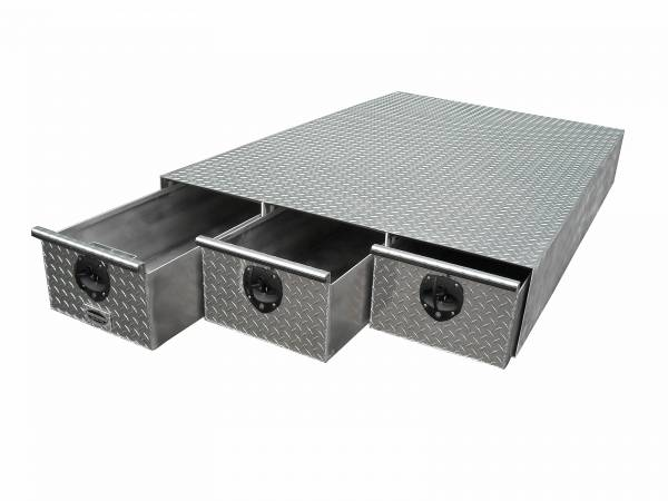 HMFINC - HMFINC BB Series - 3 Drawer 65 inch Bed Box BB65-3