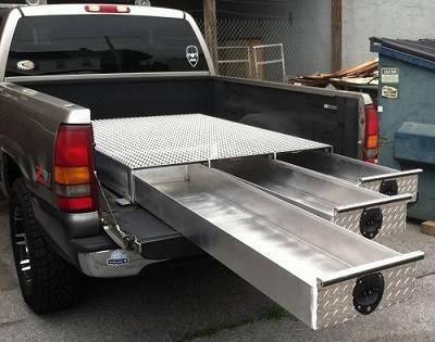 HMFINC - HMFINC BB Series - 48 inch Low Profile 3 Drawer Bed Box BB48-3LP
