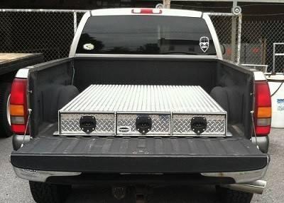HMFINC - HMFINC BB Series - 95 inch Low Profile 3 Drawer Bed Box BB96-3LP
