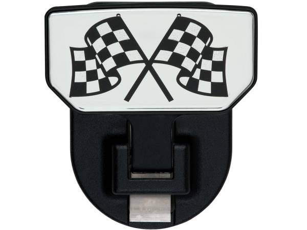 Carr - Carr HD Universal Hitch Step, Checkered Flag, single, fits 2 inch Reciever 183082