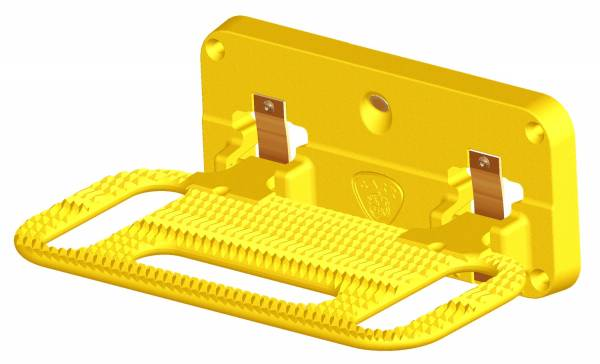 Carr - Carr Mega Hitch Step Fits 2 and 2.5 in. Reciever, Yellow, Foldable 193017