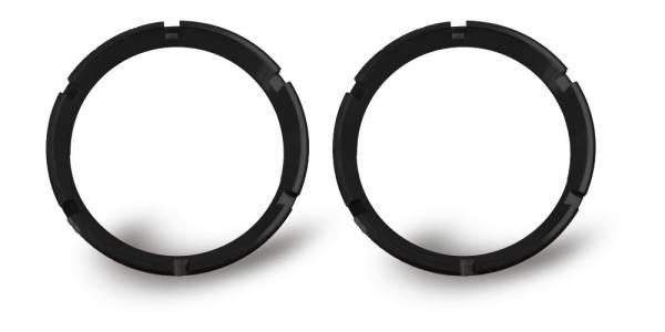 KC HiLiTES - KC HiLiTES KC FLEX Bezels - Black ED Coated (pair) 30551