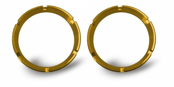 KC HiLiTES - KC HiLiTES KC FLEX Bezels - Gold ED Coated (pair) 30552