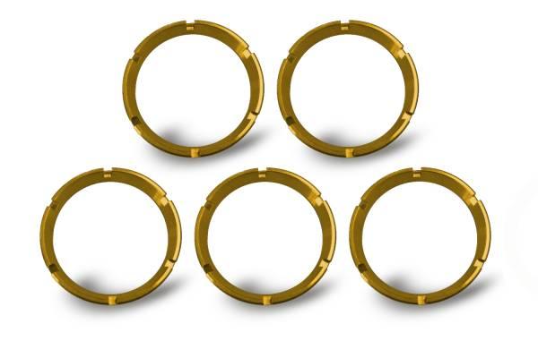 KC HiLiTES - KC HiLiTES KC FLEX Bezels - Gold ED Coated (5 pack) - #30562 30562