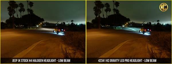 """KC HiLiTES - KC HiLiTES Gravity LED Pro 7"""" Headlight DOT Jeep JK 07-18 Pair Pack System - KC #42341 42341"""