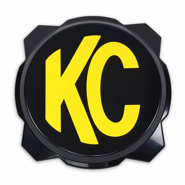 KC HiLiTES - KC HiLiTES KC Gravity Pro6 Black Light Cover with Yellow KC Logo - #5111 5111