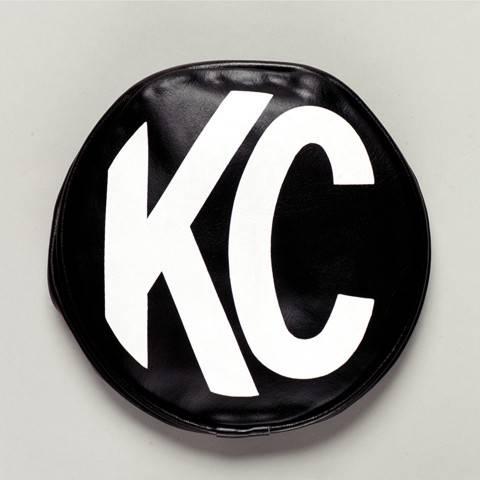 "KC HiLiTES - KC HiLiTES 8"" Vinyl Cover - KC #5800 (Black with White KC Logo) 5800"