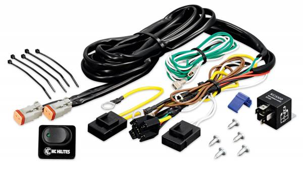 KC HiLiTES - KC HiLiTES Wiring Harness with 40 Amp Relay and LED Rocker Switch - KC #6315 6315