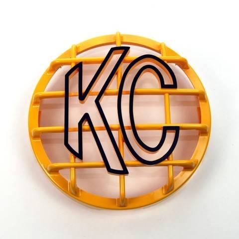 """KC HiLiTES - KC HiLiTES 6"""" Stone Guard - KC #7213 (Yellow with Black KC Logo) 7213"""