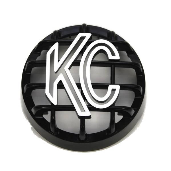 """KC HiLiTES - KC HiLiTES 4"""" Stone Guard - KC #7219 (Black with White Logo) 7219"""