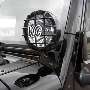KC HiLiTES - KC HiLiTES Windshield A-Pillar Light Mount Brackets for Jeep Wrangler JK 07-18 - #7316 7316
