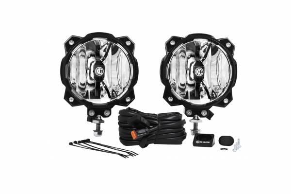 KC HiLiTES - KC HiLiTES Gravity LED Pro6 Single Driving Beam SAE/ECE Pair Pack System – #91303 91303