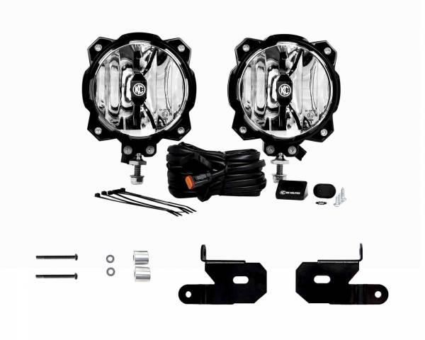 KC HiLiTES - KC HiLiTES KC 2018-2019 Jeep JL A-Pillar Gravity LED Pro6 Spot Beam Light Kit - #97111 97111
