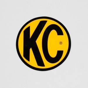 "KC HiLiTES - KC HiLiTES 3"" Decal  - KC #9900 (Yellow with Black KC Logo) 9900"