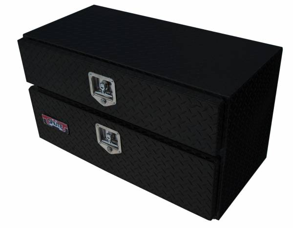 Brute - BRUTE Underbody Truck Tool Boxes w/Drawer 24 inch - Black Texture Coat  UB24-20TD-BT