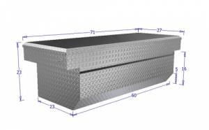 Brute - BRUTE Single Lid Full Size Pickups w/ 6.5 ft or 8 ft Bed (Wide & Deep) w/ slant - Black RB120FL-B - Image 1