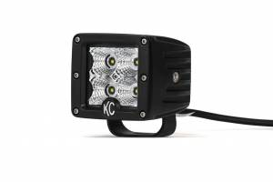 "KC HiLiTES - KC HiLiTES 3"" C-Series C3 LED Flood Beam Black Single - Black - #1332 1332 - Image 5"