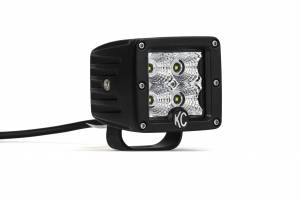 "KC HiLiTES - KC HiLiTES 3"" C-Series C3 LED Flood Beam Black Single - Black - #1332 1332 - Image 6"