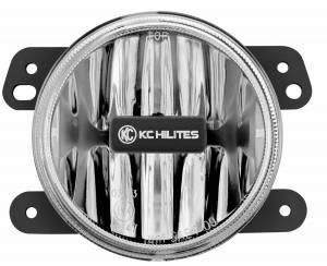 KC HiLiTES - KC HiLiTES Gravity LED G4 Fog Light Single-Amber-Jeep JK (2010 - 2018) 1498 - Image 1