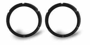KC HiLiTES - KC HiLiTES KC FLEX Bezels - Black ED Coated (pair) 30551 - Image 1