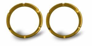 KC HiLiTES - KC HiLiTES KC FLEX Bezels - Gold ED Coated (pair) 30552 - Image 1
