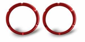 KC HiLiTES - KC HiLiTES KC FLEX Bezels - Red ED Coated (pair) 30554 - Image 1