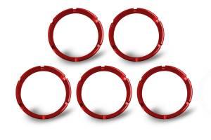 KC HiLiTES - KC HiLiTES KC FLEX Bezels -  Red ED Coated (5 pack) 30564 - Image 3