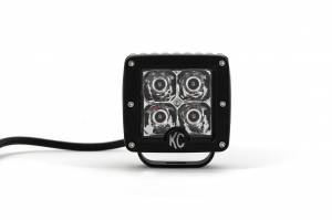 "KC HiLiTES - KC HiLiTES 3"" C-Series C3 LED Spot with Amber LED Pair Pack System - #315 315 - Image 7"