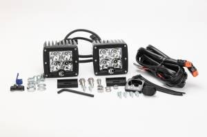 "KC HiLiTES - KC HiLiTES 3"" C-Series C3 LED Spot Beam Black Pair Pack System - #330 330 - Image 5"
