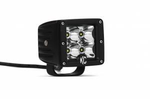 "KC HiLiTES - KC HiLiTES 3"" C-Series C3 LED Spot Beam Black Pair Pack System - #330 330 - Image 6"