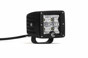 "KC HiLiTES - KC HiLiTES 3"" C-Series C3 LED Flood Beam Black Pair Pack System - #332 332 - Image 1"