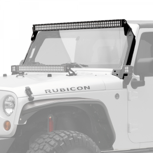 "KC HiLiTES - KC HiLiTES 50"" C Series C50 LED Bar & Overhead Mount Bracket Kit - Jeep JK 07-18 - KC #366 366 - Image 2"