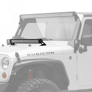 "KC HiLiTES - KC HiLiTES 30"" C-Series C30 LED Bar & Hood Mount Bracket Kit - Jeep JK 07-18 - KC #367 367 - Image 1"