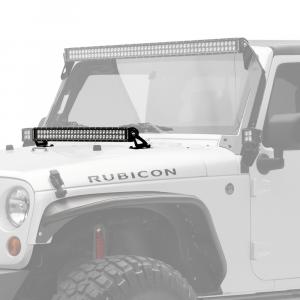 "KC HiLiTES - KC HiLiTES 30"" C-Series C30 LED Bar & Hood Mount Bracket Kit - Jeep JK 07-18 - KC #367 367 - Image 2"