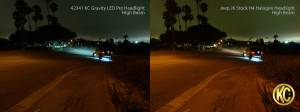 "KC HiLiTES - KC HiLiTES Gravity LED Pro 7"" Single Headlight for Jeep JK 2007-2018 - DOT Compliant 4234 - Image 4"