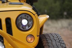 "KC HiLiTES - KC HiLiTES Gravity LED Pro 7"" Single Headlight for Jeep JK 2007-2018 - DOT Compliant 4234 - Image 7"