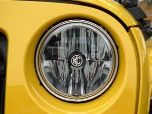"KC HiLiTES - KC HiLiTES Gravity LED 7"" Headlight for Jeep JK 2007-2018 Pair Pack - DOT Compliant 42351 - Image 1"