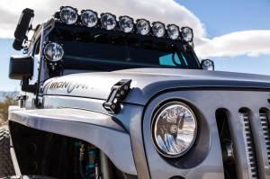 "KC HiLiTES - KC HiLiTES Gravity LED 7"" Headlight for Jeep JK 2007-2018 Pair Pack - DOT Compliant 42351 - Image 2"