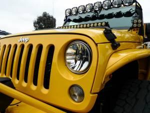 "KC HiLiTES - KC HiLiTES Gravity LED 7"" Headlight for Jeep JK 2007-2018 Pair Pack - DOT Compliant 42351 - Image 4"