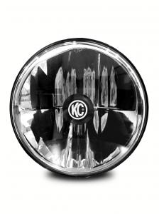 "KC HiLiTES - KC HiLiTES Gravity LED 7"" Headlight for Jeep TJ 1997-2006 Single - DOT Compliant 4236 - Image 1"