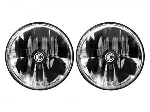 """KC HiLiTES - KC HiLiTES Gravity LED 7"""" Headlight DOT Jeep TJ 97-06/Universal H4 Pair Pack 42361 - Image 1"""