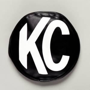 "KC HiLiTES - KC HiLiTES 6"" Vinyl Cover - KC #5100 (Black with White KC Logo) 5100 - Image 1"