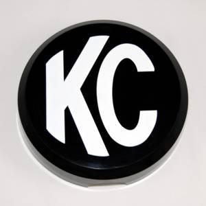 "KC HiLiTES - KC HiLiTES 6"" Plastic Cover - KC #5105 (Black with White KC Logo) 5105 - Image 1"