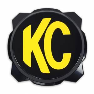 KC HiLiTES - KC HiLiTES KC Gravity Pro6 Black Light Cover with Yellow KC Logo - #5111 5111 - Image 1