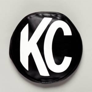 "KC HiLiTES - KC HiLiTES 8"" Vinyl Cover - KC #5800 (Black with White KC Logo) 5800 - Image 2"