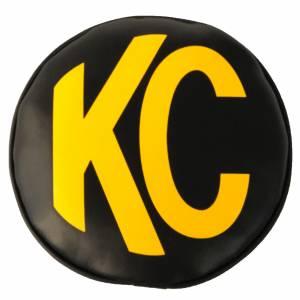 "KC HiLiTES - KC HiLiTES KC 8"" Vinyl Cover - Black with Yellow KC Logo (pr) - KC #5802 5802 - Image 1"