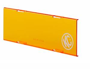 "KC HiLiTES - KC HiLiTES 10"" Amber Acrylic Light Shield 72021 - Image 2"