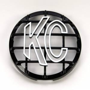 """KC HiLiTES - KC HiLiTES 6"""" Stone Guard - KC #7210 (Black with White KC Logo) 7210 - Image 1"""