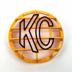 """KC HiLiTES - KC HiLiTES 6"""" Stone Guard - KC #7213 (Yellow with Black KC Logo) 7213 - Image 1"""